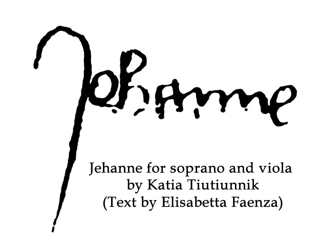 Jehanne by Katia Tiutiunnik and Text by Elisabetta Faenza